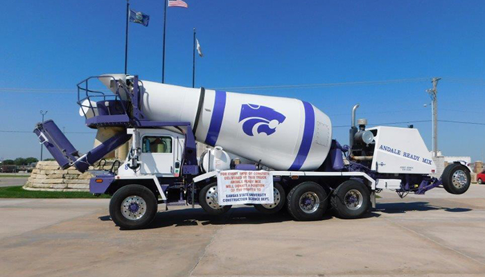 Andale Ready Mix Paint a truck K-State college of engineering charity concrete truck