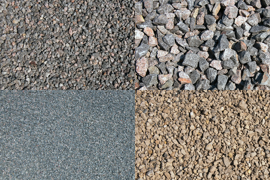a set of the four different crushed stones